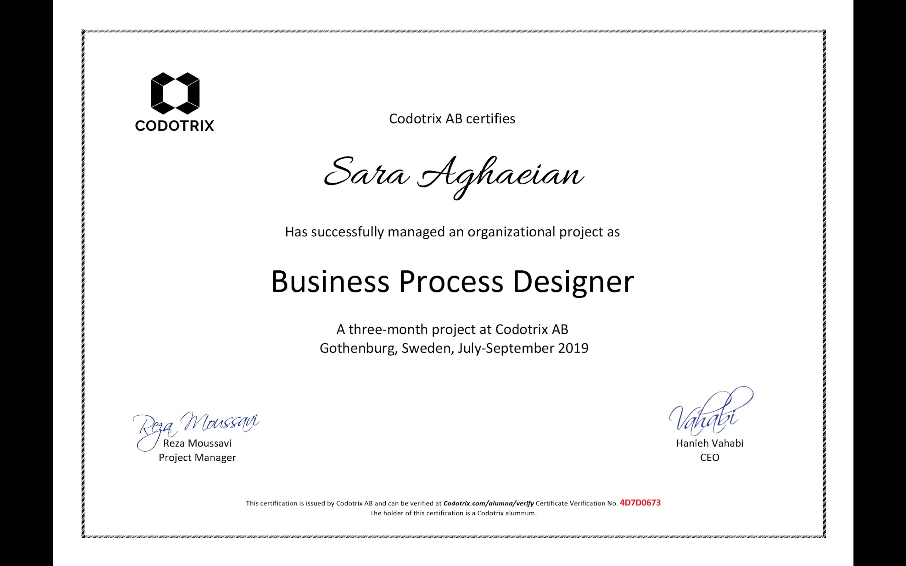 Sara Aghaeian 4D7D0673 Business Process Design